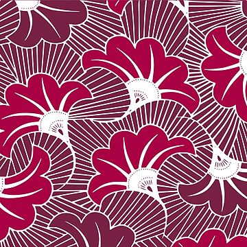 Wax Flower Pattern pink and purple by PictoYou