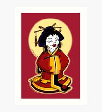 Little Geisha Art Print