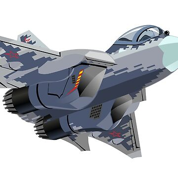 Military cartoon stealth fighter jet by Mechanick