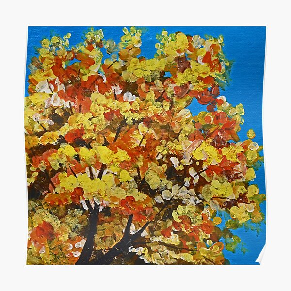 Fall Splendor (Autumn Tree Top) Poster