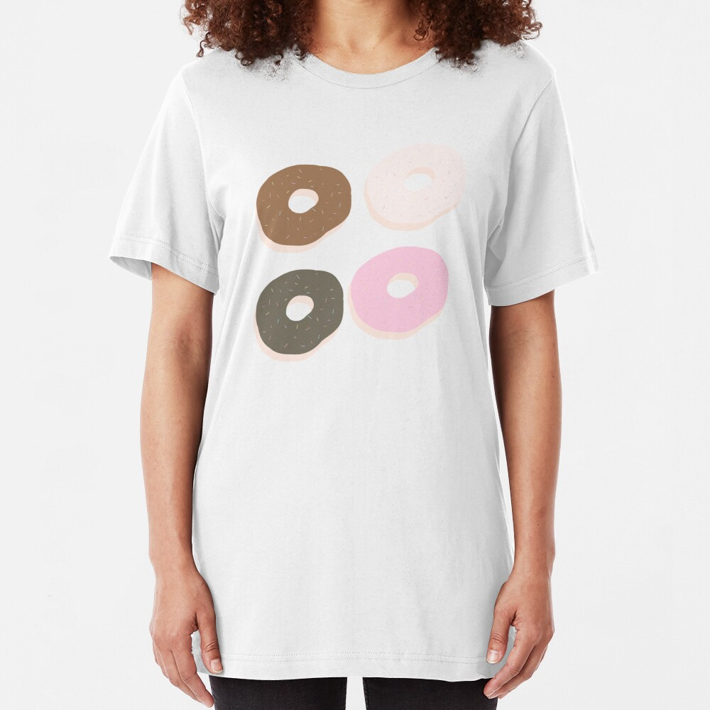 Assorted Donuts Slim Fit T-Shirt