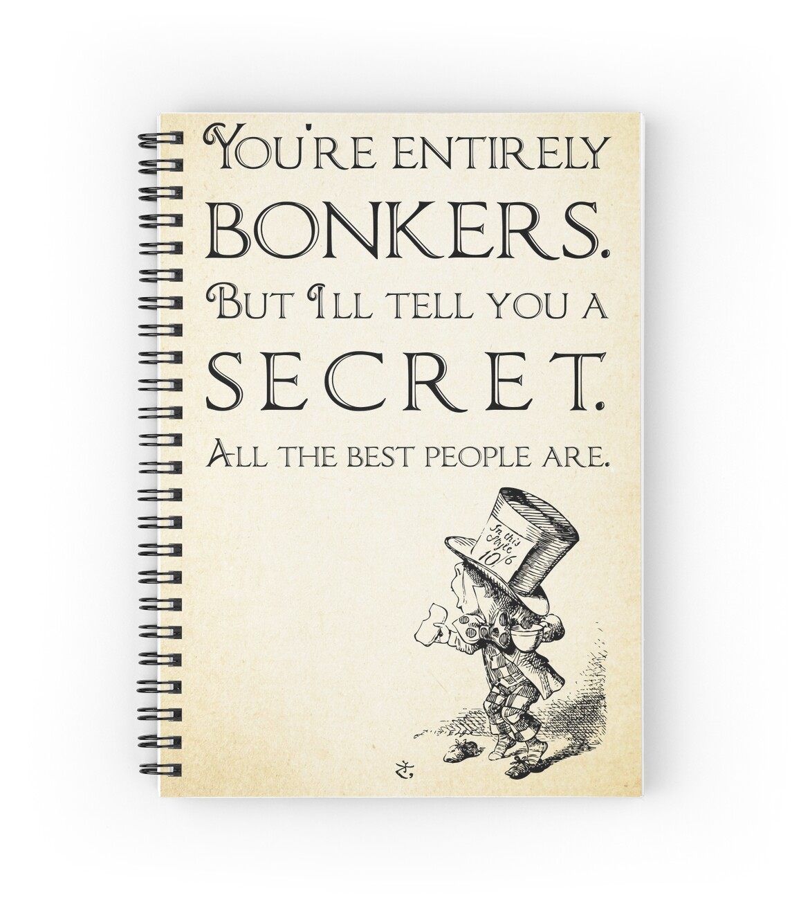 Alice In Wonderland Quote Alice In Wonderland Quote  You're Entirely Bonkers  Mad Hatter
