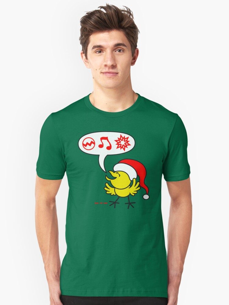 Christmas Chicken making a Wish! Unisex T-Shirt Front