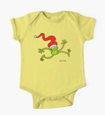 Christmas Frog Jumping out of Joy! Kids Clothes