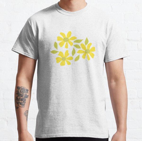 Retro Yellow Flowers Classic T-Shirt
