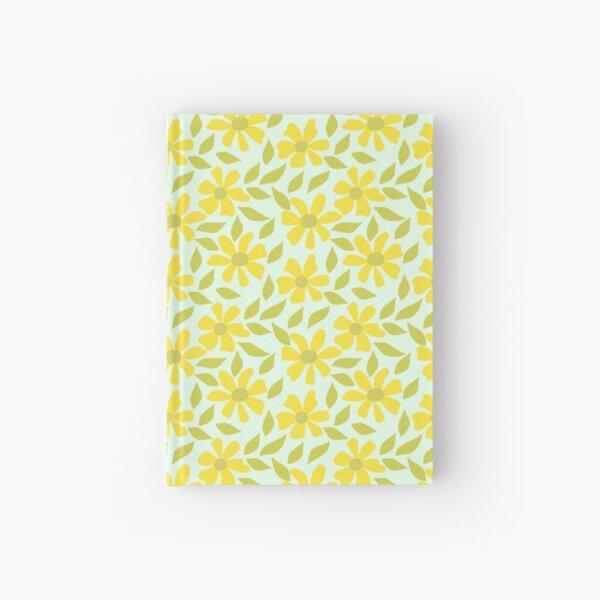 Retro Yellow Flowers Hardcover Journal