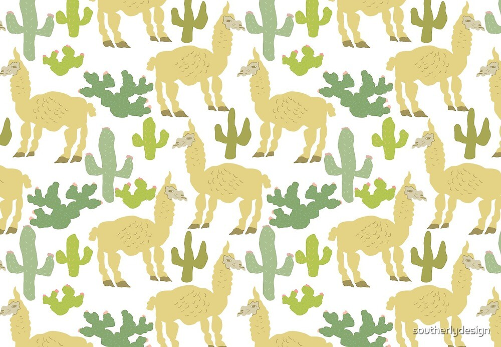 Alpacas in the Desert by southerlydesign