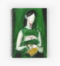 """Fashion and Victim Painting """"Green and Beauty"""" Spiral Notebook"""