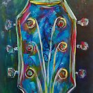 Outta Tune Guitar Abstract (Music) by sharontaylorart