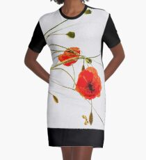 Poppies Graphic T-Shirt Dress