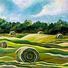 Summer Colors (Tennessee Hay Field) by sharontaylorart