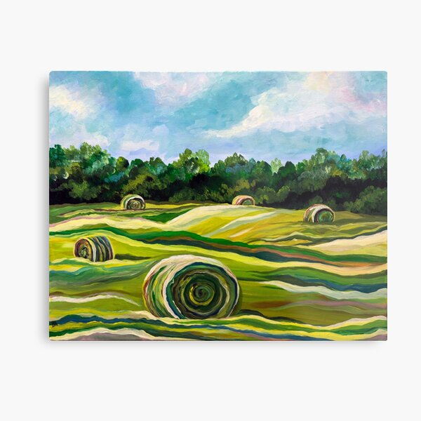 Summer Colors (Tennessee Hay Field) Metal Print