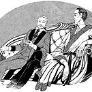 Sherlock Holmes and Dr. John Watson by SaraLutra