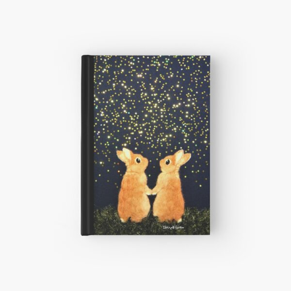 looking for shooting stars (2008) Rabbit / Bunny Art Hardcover Journal