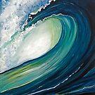 Deep Calls to Deep Ocean Wave by sharontaylorart