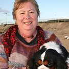 Cathie & her Cavileer King Charles Terrior, Darling by Cathie Brooker