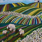Southern Glory (Tennessee Cotton Field) by sharontaylorart