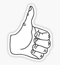 thumb sticker Sticker