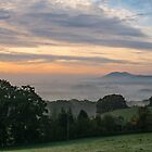 Looking to the Malvern Hills, Worcestershire England by Cliff Williams