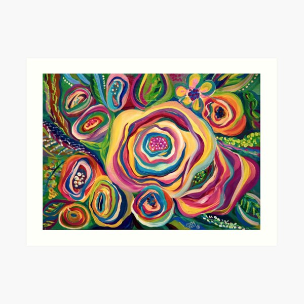 Collidescope Floral Abstract Art Print