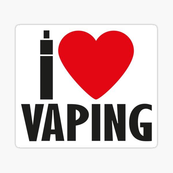 Vape Design I love Vaping Sticker