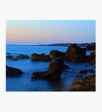 Blue water over the bay. Photographic Print