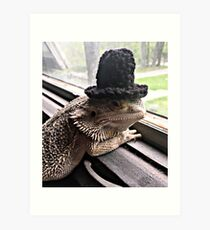 Portrait of the Smaug in a Top Hat, 2016 Art Print