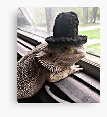 Portrait of the Smaug in a Top Hat, 2016 Canvas Print