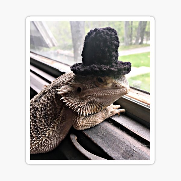 Portrait of the Smaug in a Top Hat, 2016 Sticker
