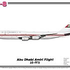Boeing B747-8 - Abu Dhabi Amiri Flight (Art Print) by TheArtofFlying