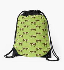 Brown Cows Drawstring Bag