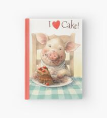 Piggy Loves Choco Cake Hardcover Journal