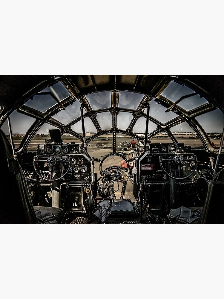 """B-29 Superfortress """"Fifi"""" Cockpit View by ChrisLord"""