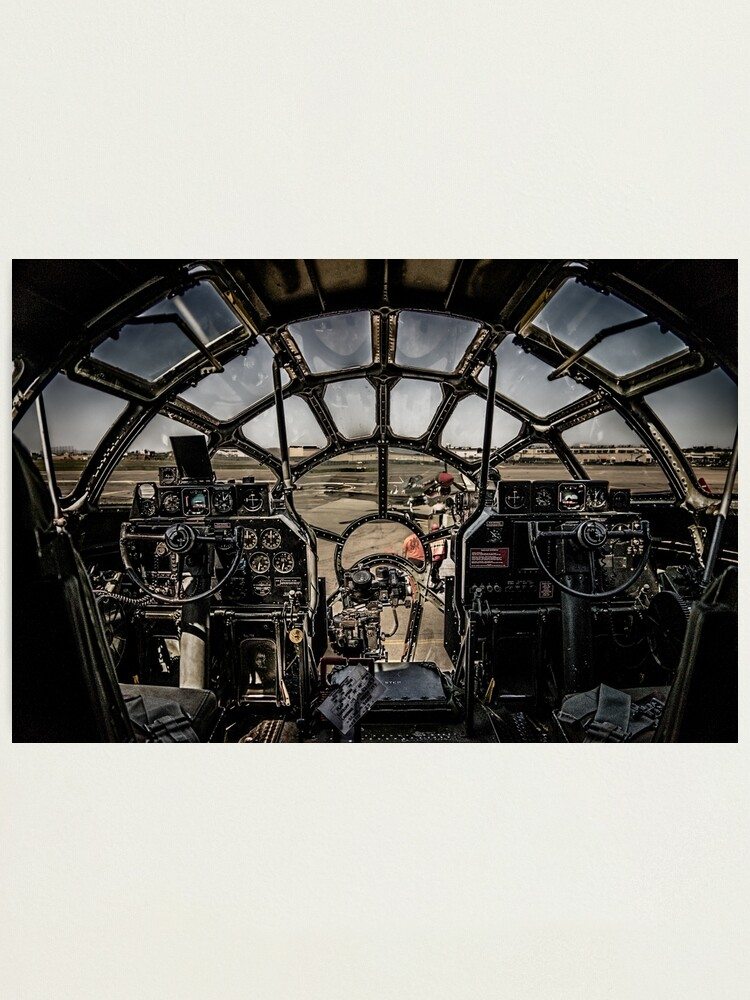 """Alternate view of B-29 Superfortress """"Fifi"""" Cockpit View Photographic Print"""