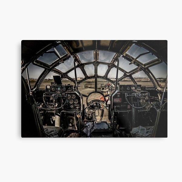 """B-29 Superfortress """"Fifi"""" Cockpit View Metal Print"""