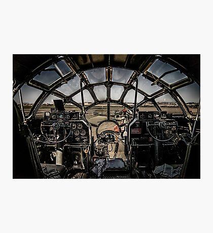"B-29 Superfortress ""Fifi"" Cockpit View Photographic Print"
