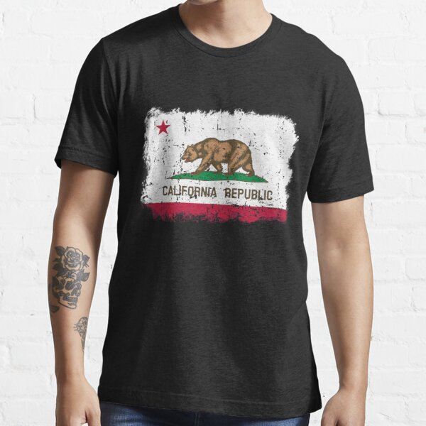 California Republic Cali Flag Apparel Gifts Men Women Kids Langarmshirt