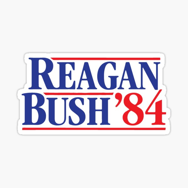 Reagan Bush 84 Sticker