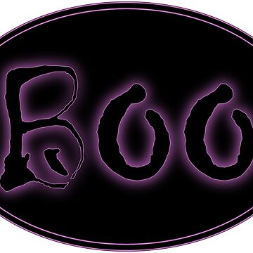 Glowing Purple Halloween Boo Bar Sign by gkillerb