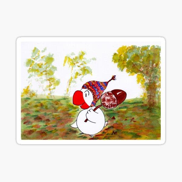 Eichelsammler im Wald Sticker