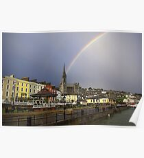 Rainbow over Cobh Poster