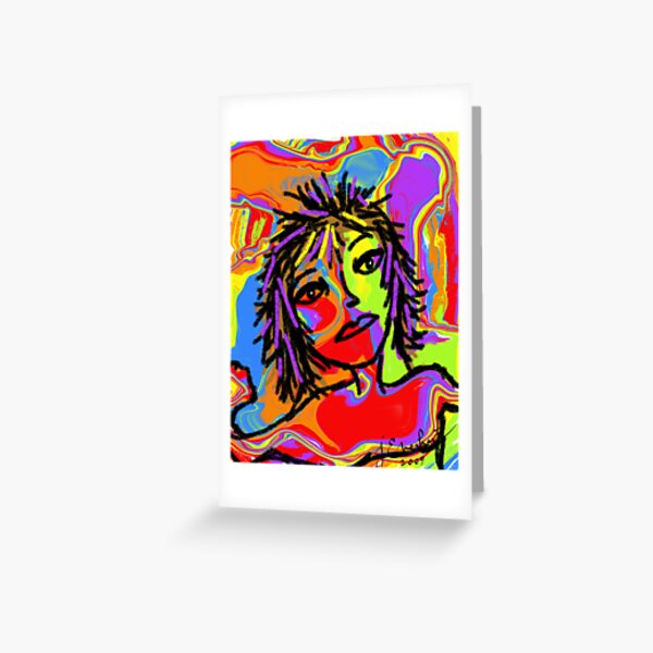 Rainbow Girl by Julie Everhart Greeting Card