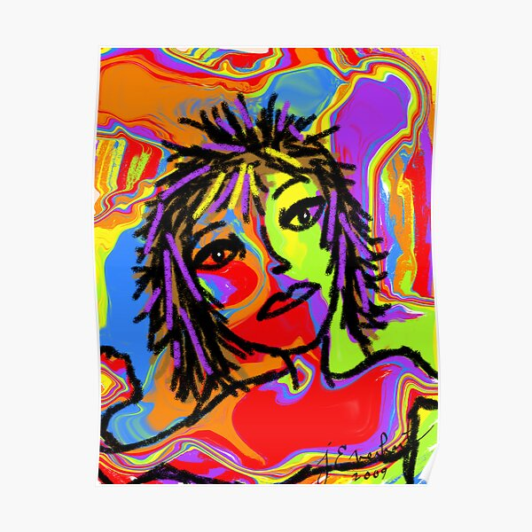 Rainbow Girl by Julie Everhart Poster