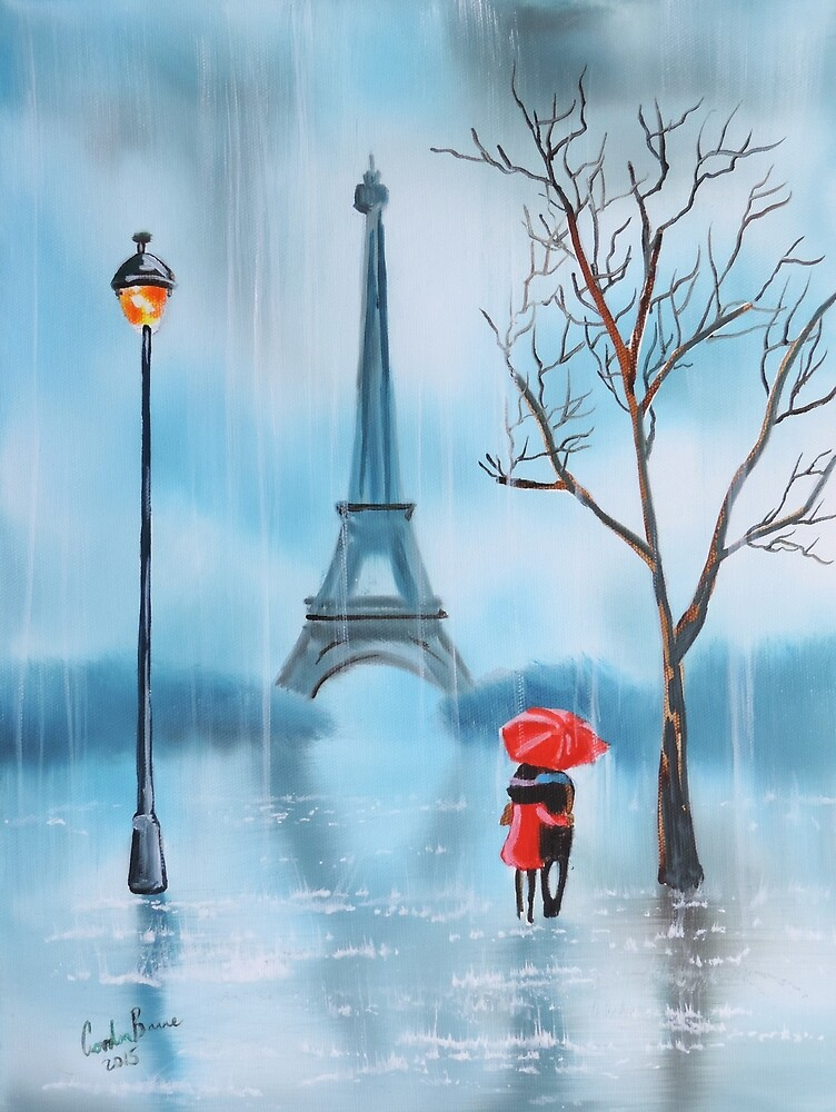 Paris painting the Eiffel tower by GORDON BRUCE ART
