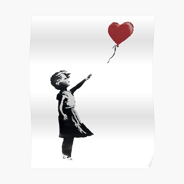 Girl With Balloon (Banksy) Poster