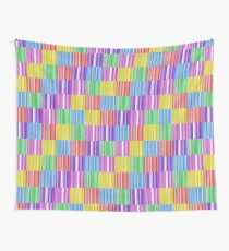 Multicoloured Barcodes Wall Tapestry