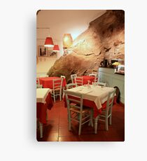 Restaurants in the cave Canvas Print