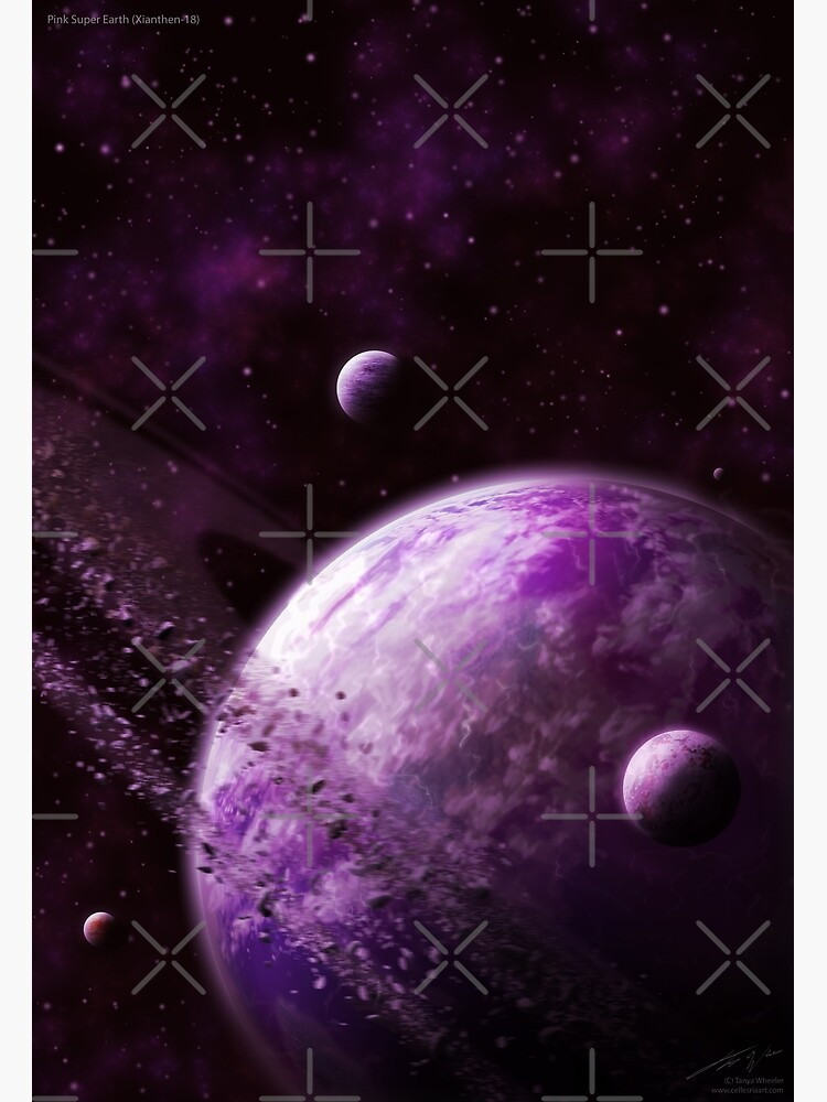 Pink Super Earth (Xianthen-18) by Cellesria