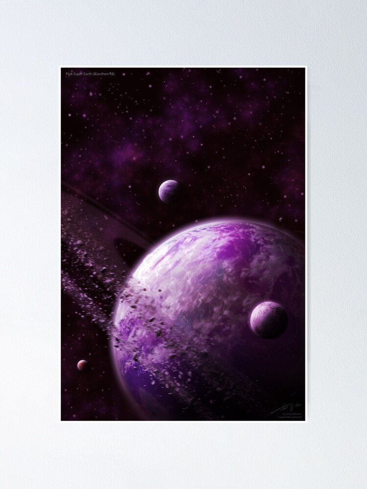 Alternate view of Pink Super Earth (Xianthen-18) Poster