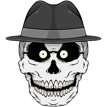 Skull with fedora by Kniffen